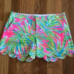 Lilly Pulitzer scalloped shorts